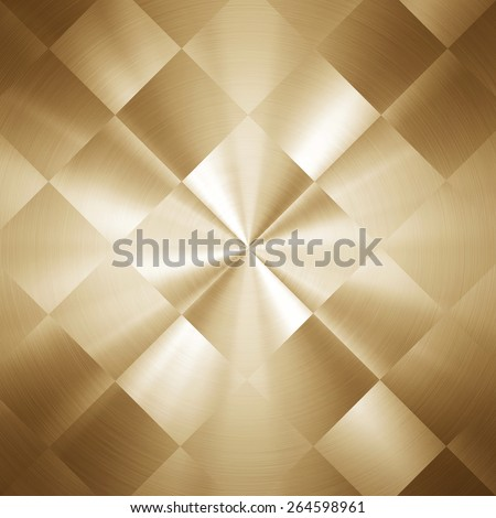 gold metal pattern background - stock photo