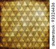 Gold metal pattern on paper backgrond - stock photo