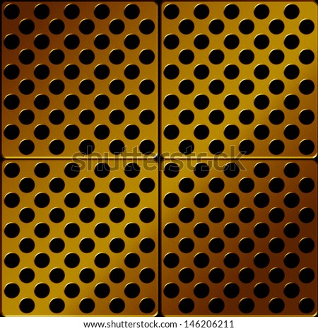 Gold Metal plate , abstract background - stock photo