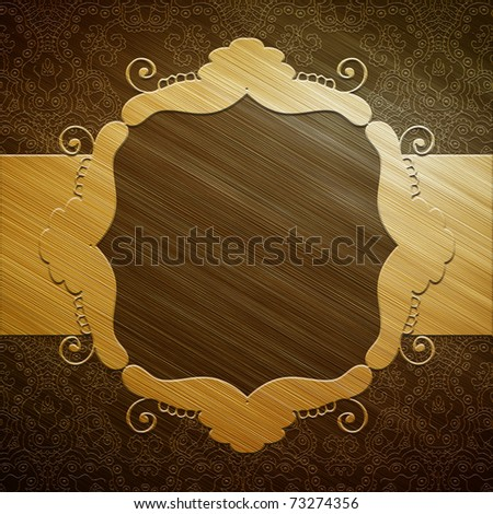 Gold metal plate with ornament