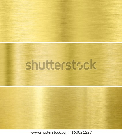 Gold metal texture background collection - stock photo