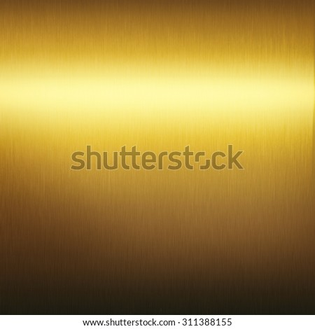 gold metal texture background smooth plate surface - stock photo