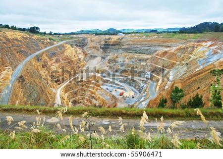 Gold mine - stock photo