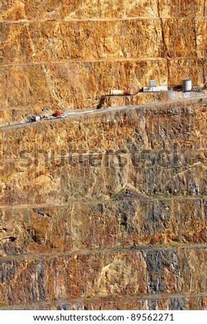Gold mine open caste 4 - stock photo