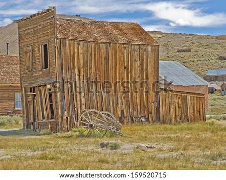 Gold mining ghost town of Bodie, California, a State Historical Park - stock photo