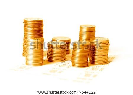 gold money - stock photo
