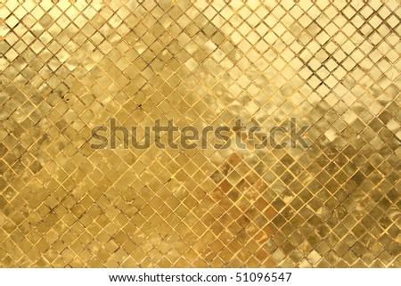 gold mosaic background - stock photo
