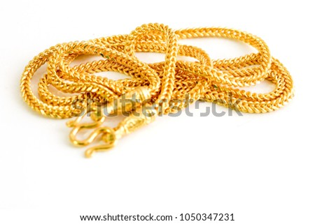 jewelry gold necklace product chains expensive from valuable double domineering