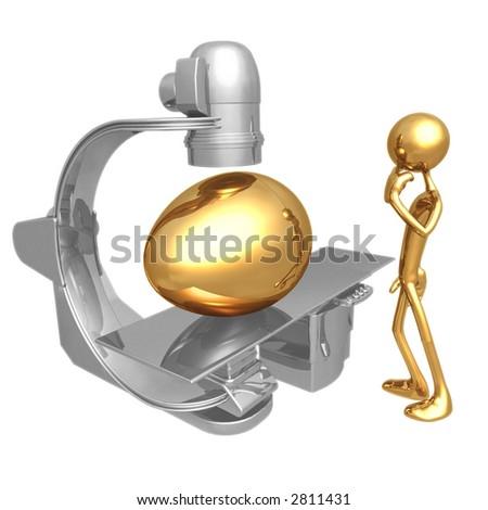 Gold Nest Egg Exam Angiography - stock photo
