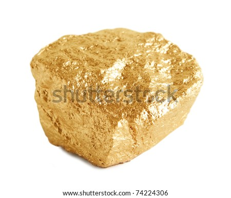 Gold Nugget - stock photo