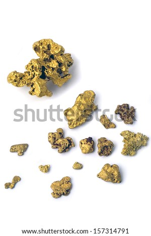 gold nugget in the studio very close