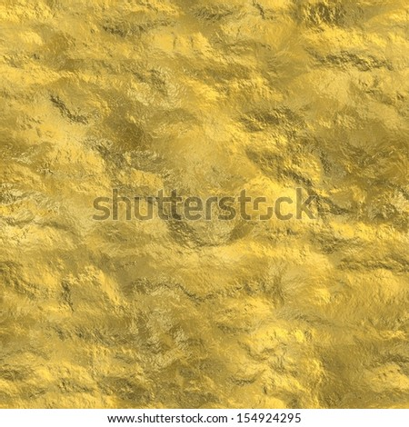 Gold nugget surface seamless abstract background  - stock photo