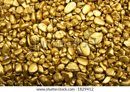Gold-nuggets - stock photo