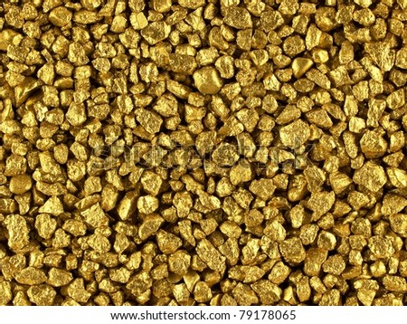 Gold nuggets - stock photo