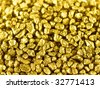 Gold nuggets macro - stock photo