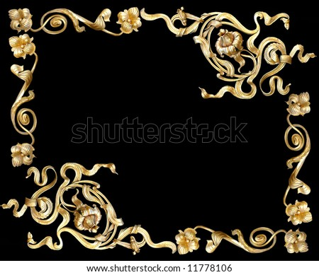 gold ornate - stock photo