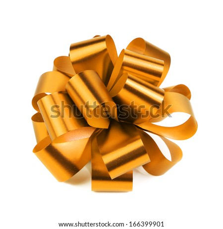 Gold packaging band. Isolated on a white background. - stock photo