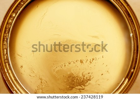 Gold paint in cans - stock photo