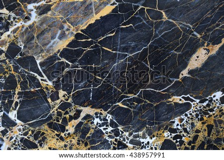 Gold patterned natural of dark blue gray marble background, abstract texture.