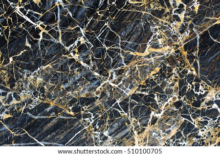 Gold patterned natural of dark marble background texture.
