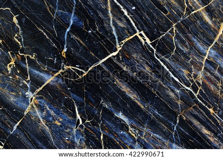 Gold patterned natural of dark marble pattern background texture, abstract background. - stock photo