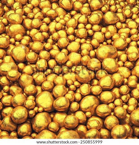 Gold pellets background , Safe investment - stock photo
