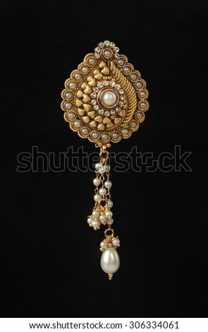 Gold Pendant - stock photo