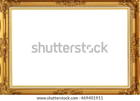 gold picture frames. isolated on white