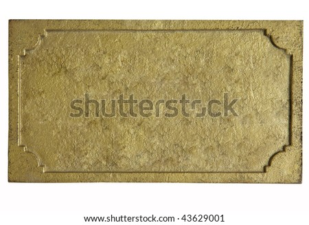 gold plate - stock photo