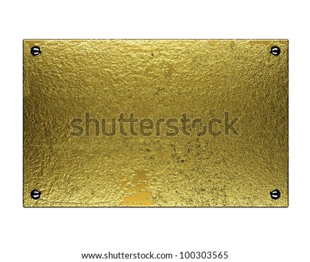 gold plate on a white background