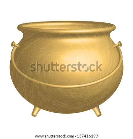 gold pot - stock photo