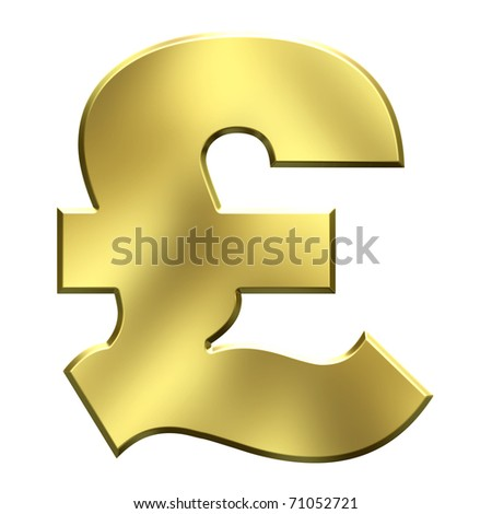 Gold pound £ symbol - stock photo
