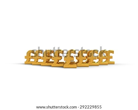 gold pounds - stock photo