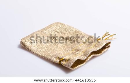 Gold  purse - stock photo