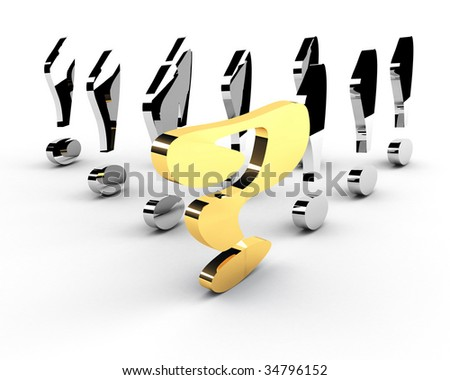 gold question-mark mark leadership concept - stock photo