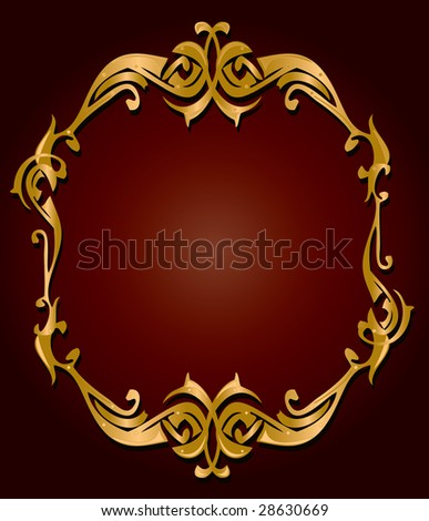 Gold red frame - jpg version