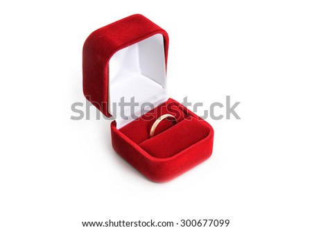 Gold ring in the box