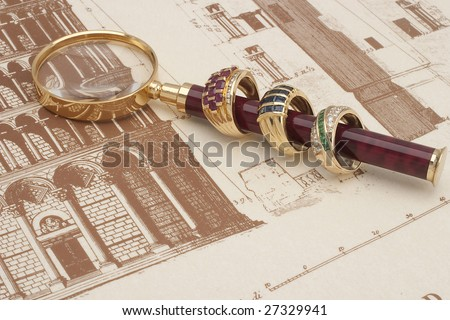 gold rings - stock photo