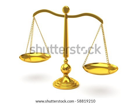 Gold scales - stock photo