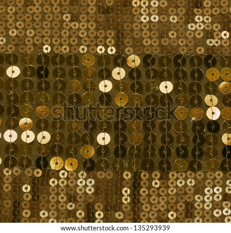 gold sequin background - stock photo