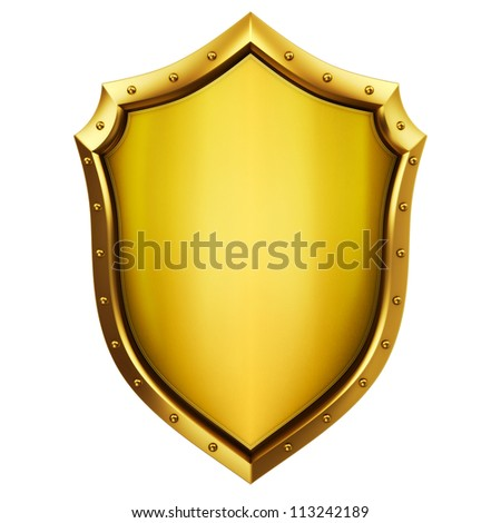 Gold Shield - stock photo