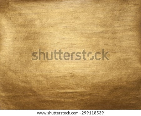 Gold Shining Paint Stain Hand Drawn Illustration - stock photo