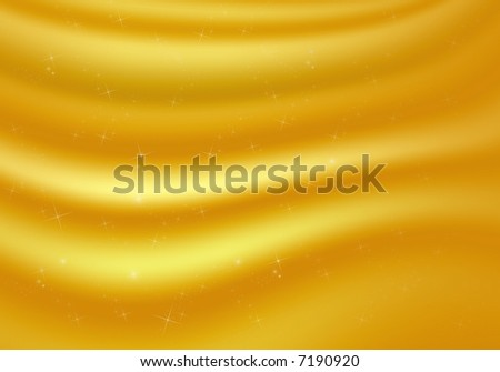 Gold shiny background with stars