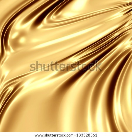 Gold silk artistic texture - stock photo