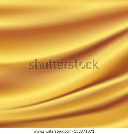 Gold Silk Backgrounds - stock photo