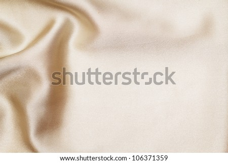 Gold silk textile - stock photo