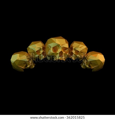 grayscale crystal skull made polygons stock illustration 243176710 shutterstock. Black Bedroom Furniture Sets. Home Design Ideas