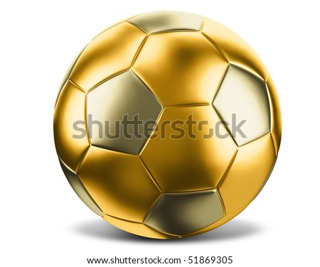 Gold soccer - stock photo