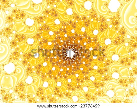 gold spiral background - stock photo