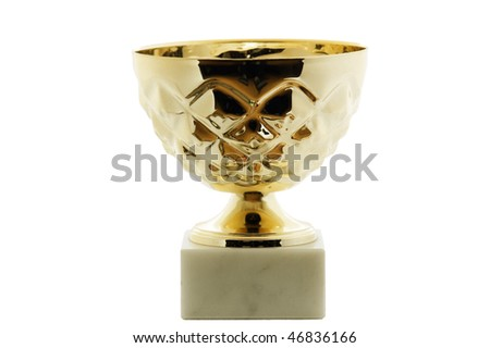 Gold sports cup - stock photo